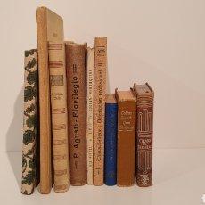 Libros: LOTE 9 LIBROS ANTIGUOS, DICCIONARIOS, C.COLÓN , COCINA MENORQUINA, ETC..MIREN LAS FOTOGRAFÍAS!!. Lote 195319033