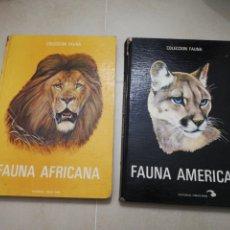 Libros: COLECCIÓN FAUNA, FAUNA AFRICAN Y FAUNA AMERICANA, EDITORIAL TIMUN MÁS. Lote 195333593