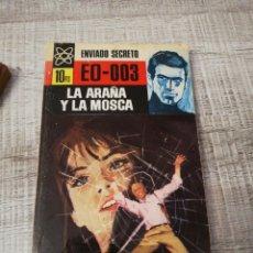 Libros: ENVIADO SECRETO EO-003,LA ARAÑA Y LA MOSCA, CLARK CARRADOS. Lote 195338488
