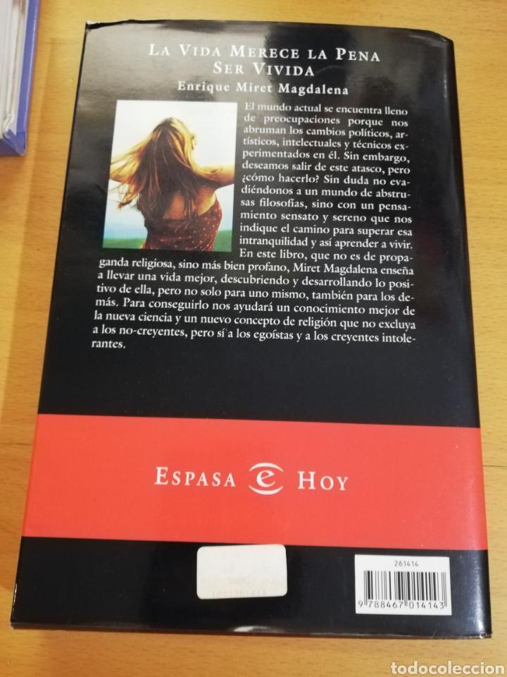 Libros: LA VIDA MERECE LA PENA SER VIVIDA (ENRIQUE MIRET MAGDALENA) - Foto 4 - 195341435