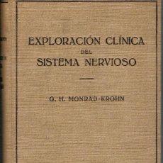 Libros: EXPLORACIÓN CLÍNICA DEL SISTEMA NERVIOSO - G. H. MONRAD-KROHN. Lote 195434038