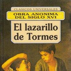 Libros: EL LAZARILLO DE TORMES - ANÓNIMO. Lote 195470741