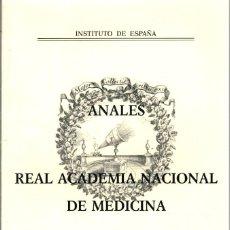 Libros: ANALES DE LA REAL ACADEMIA NACIONAL DE MEDICINA. AÑO 2009, TOMO CXXVI, CUADERNO CUARTO. Lote 195508437
