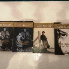 Libros: 4 LIBROS DE ISABEL ALLENDE. LA CASA DE LOS ESPÍRITUS 1Y2, MI PAÍS INVENTADO.LA CIUDAD DE LAS BESTIAS. Lote 195509961