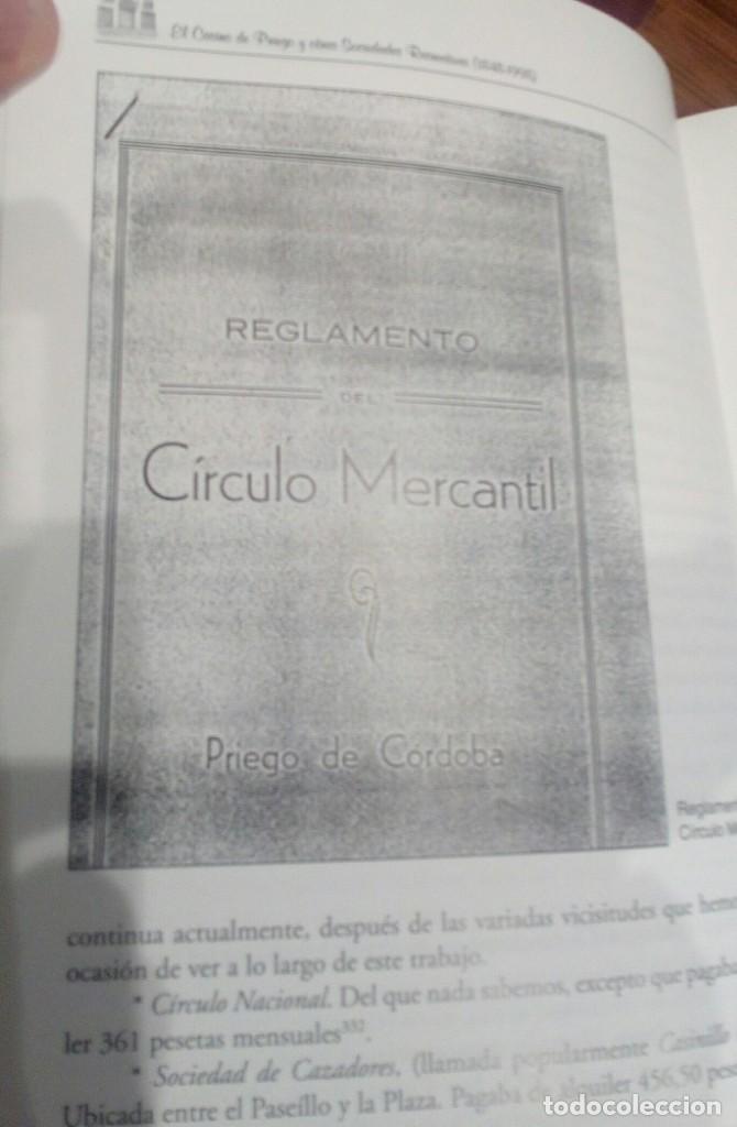 Libros: EL CASINO DE PRIEGO Y OTRAS SOCIEDADES RECREATIVAS (CORDOBA) - Foto 2 - 196513433