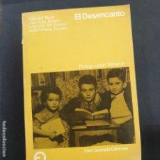 Libros: EL DESENCANTO FELICIDAD BLANC, LEOPOLDO PANERO. ELÍAS QUEREJETA EDICIONES 1976. 1ª EDICIÓN. Lote 196514191