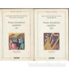 Libros: POETAS DRAMÁTICOS ESPAÑOLES. 2 TOMOS ESTUDIO PRELIMINAR POR GERARDO DIEGO.. Lote 196655800