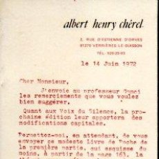 Libri di seconda mano: LAS IDEAS DE ANDRE MALRAUX SOBRE EL ARTE - HENRY CHÉREL, ALBERT. Lote 197088338
