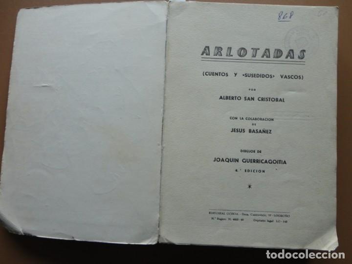 Libros: ARLOTADAS. CUENTOS Y SUCEDIDOS VASCOS - Foto 2 - 198896412