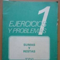 Libros: EJERCICIOS Y PROBLEMAS 1-2 ANAYA 1983. Lote 198904993