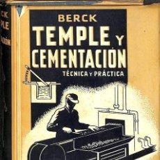 Libros: TEMPLE Y CIMENTACION TECNICA Y PRATICA. Lote 199489076