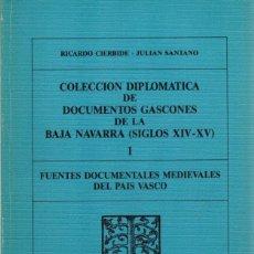 Libri di seconda mano: COLECCIÓN DIPLOMÁTICA DE DOCUMENTOS GASCONES DE LA BAJA NAVARRA (SIGLOS XIV - XV) I - CIERBIDE, RICA. Lote 199627581