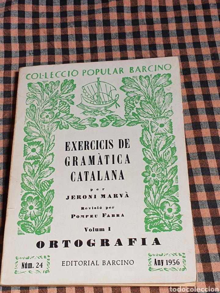 EXERCICIS DE GRAMÀTICA CATALANA, JERONI MARVÁ, VOLUM I NÚM.24, EDITORIAL BARCINA. (Libros sin clasificar)