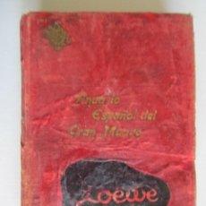 Libros: LIBRO ANUARIO ESPAÑOL DEL GRAN MUNDO PUBLICIDAD, TELEFONOS DESTACADOS, MINISTROS, DIPUTADOS ETC 1944. Lote 202696876