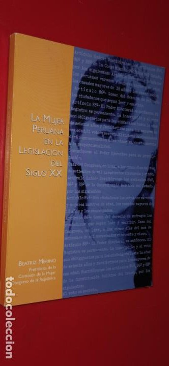 LA MUJER PERUANA EN LA LEGISLACION DEL SIGLO XX (Libros sin clasificar)
