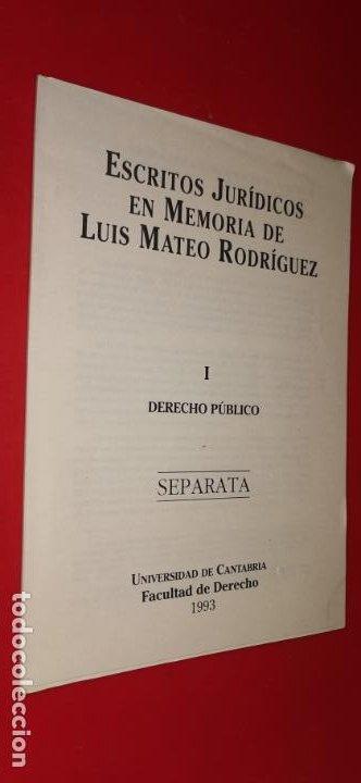 ESCRITOS JURÍDICOS EN MEMORIA DE LUIS MATEO RODRÍGUEZ SEPARATA 1993 (Libros sin clasificar)
