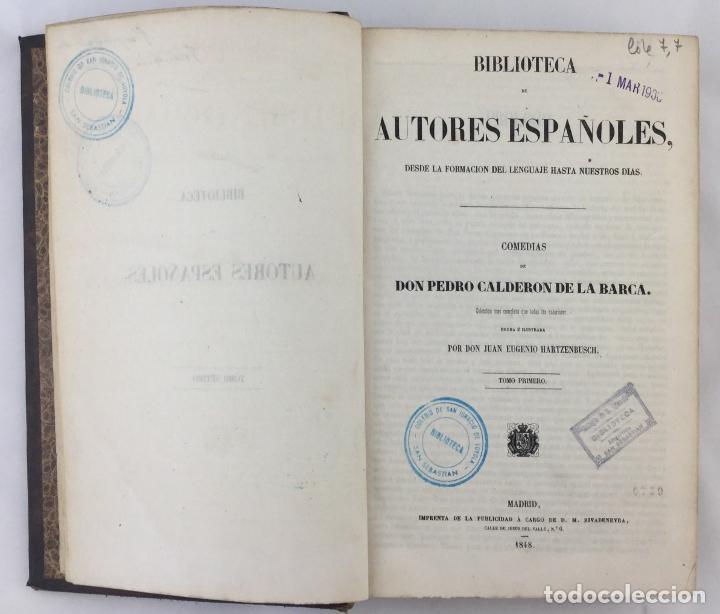 Libros: Comedias de Don Pedro Calderon de la Barca. Tomo primero - - Foto 2 - 204103697