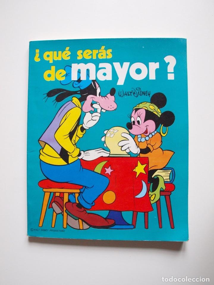 ¿QUÉ SERÁS DE MAYOR? - WALT DISNEY - COLECCIÓN DISNEY ENSEÑA - SUSAETA 1976 (Libros sin clasificar)