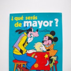 Libros: ¿QUÉ SERÁS DE MAYOR? - WALT DISNEY - COLECCIÓN DISNEY ENSEÑA - SUSAETA 1976. Lote 204247793