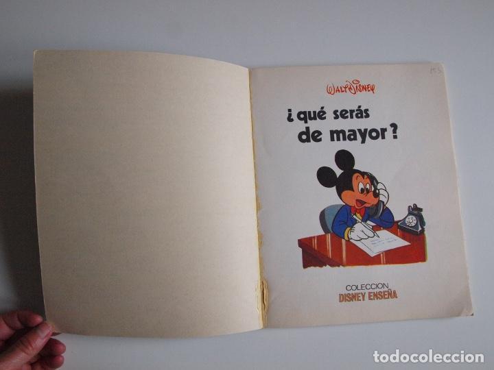 Libros: ¿QUÉ SERÁS DE MAYOR? - WALT DISNEY - COLECCIÓN DISNEY ENSEÑA - SUSAETA 1976 - Foto 2 - 204247793