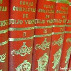 Libros: VERNE JULIO. - OBRAS COMPLETAS DE VERNE JULIO. 13 TOMOS.. Lote 162244594
