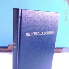 Libros: RETÓRICA A HERENIO. (BIBLI. CLÁSICA GREDOS Nº 244). Lote 205715005