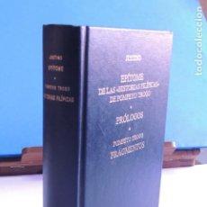 Libros: EPÍTOME DE LAS HISTORIAS FILÍPICAS DE POMPEYO TROGO. PRÓLOGOS. FRAGME. (BIBLI. CLÁSICA GREDOS Nº 212. Lote 205720100
