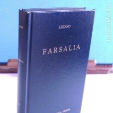 Libros: FARSALIA. LUCANO (BIBLI. CLÁSICA GREDOS Nº 71). Lote 205721822