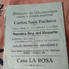 Livros em segunda mão: CARNAVALES DE CÁDIZ. LIBRETO SIN IDENTIFICAR, 1924. Lote 205088970