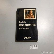 Libros: OBRAS INCOMPLETAS. Lote 206880850