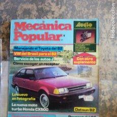 Libros: MECANICA POPULAR.MANEJANDO EL TOYOTA DEL 82. ENERO 1982.. Lote 206963735