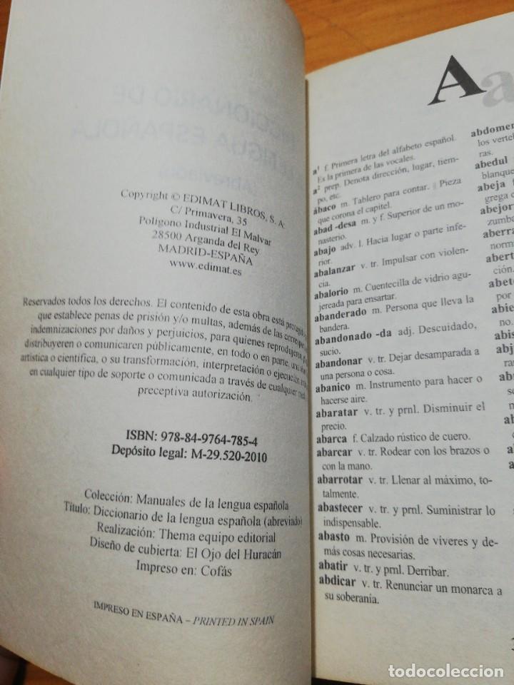 Libros: Diccionario de la lengua española abreviado - Foto 2 - 207441865