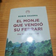 Libros: LIBRO ESPIRITUAL EL MONJE QUE VENDIÓ SU FERRARI DE ROBIN SHARMA. Lote 207445301