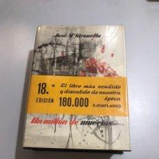 Libros: UN MILLÓN DE MUERTOS. Lote 207547926