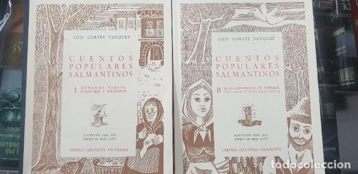 CORTÉS VÁZQUEZ, LUIS. - CUENTOS POPULARES SALMANTINOS.COMPLETO 2 TOMOS (Libros sin clasificar)