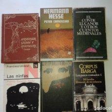 Libros: LOTE DE 6 LIBROS, LAS NINFAS, EL ARBOL DE LA CIENCIA, LOS PASOS CONTADOS, ANDERSEN GRIMM Y HOFFMANN. Lote 210183341