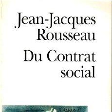 Libros: DU CONTRAT SOCIAL - JEAN-JACQUES ROUSSEAU. Lote 210299921
