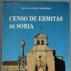 Libros: CENSO DE ERMITAS DE SORIA - JUAN-LUIS DE SORONDO. Lote 210299931