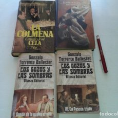 Libros: LOTE DE 4 LIBROS, LA COLMENA, LA NOCHE DE LOS GENERALES, LOS GOZOS Y LAS SOMBRAS: II DONDE DA LA VUE. Lote 210328876