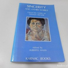 Libros: DONALD MELTZAR SINCERITY AND OTHER WORKS ( INGLÉS) Q1669T. Lote 210553216