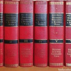 Libros: LIBRO DICCIONARIO ONOMASTICO Y HERALDICO VASCO. Lote 210660944