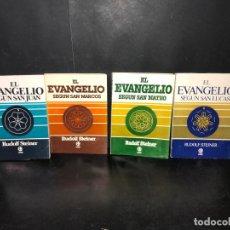 Libros: EL EVANGELIO SEGÚN SAN LUCAS, MARCOS, MATEO Y JUAN. 4 TOMOS. - STEINER, RUDOLF.. Lote 210719086