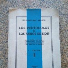 Libros: LOS PROTOCOLOS DE LOS SABIOS DE SION - LOS PELIGROS JUDIO-MASONICOS -- MADRID 1948 --. Lote 210773929