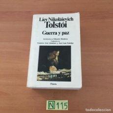 Libros: GUERRA Y PAZ. Lote 210801959