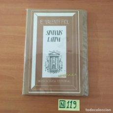 Libros: SINTAXIS LATINA. Lote 211443035