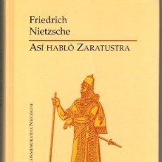Libros: ASÍ HABLÓ ZARATUSTRA - FRIEDRICH NIETZSCHE. Lote 222301446