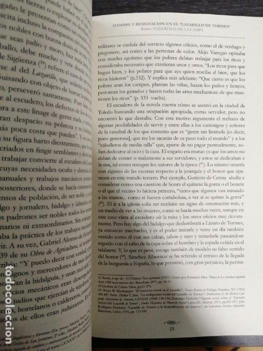 Libros: HAMBRE Y RESIGNACIÓN EN EL LAZARILLO DE TORMES. BENITO MADARIAGA DE LA CAMPA. - Foto 3 - 213436921