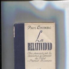 Libros: COLECCION SURCO NUMERO 03: LA RELATIVIDAD. Lote 213556222
