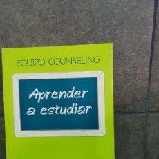 Libros: APRENDER A ESTUDIAR. RICARDO VELILLA BARQUERO.. Lote 213717648