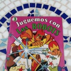 Libros: INFANTIL JUGUEMOS CON LOS ROBOTS CONTIENE PEGATINAS. Lote 214252277